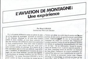 aviation de montagne