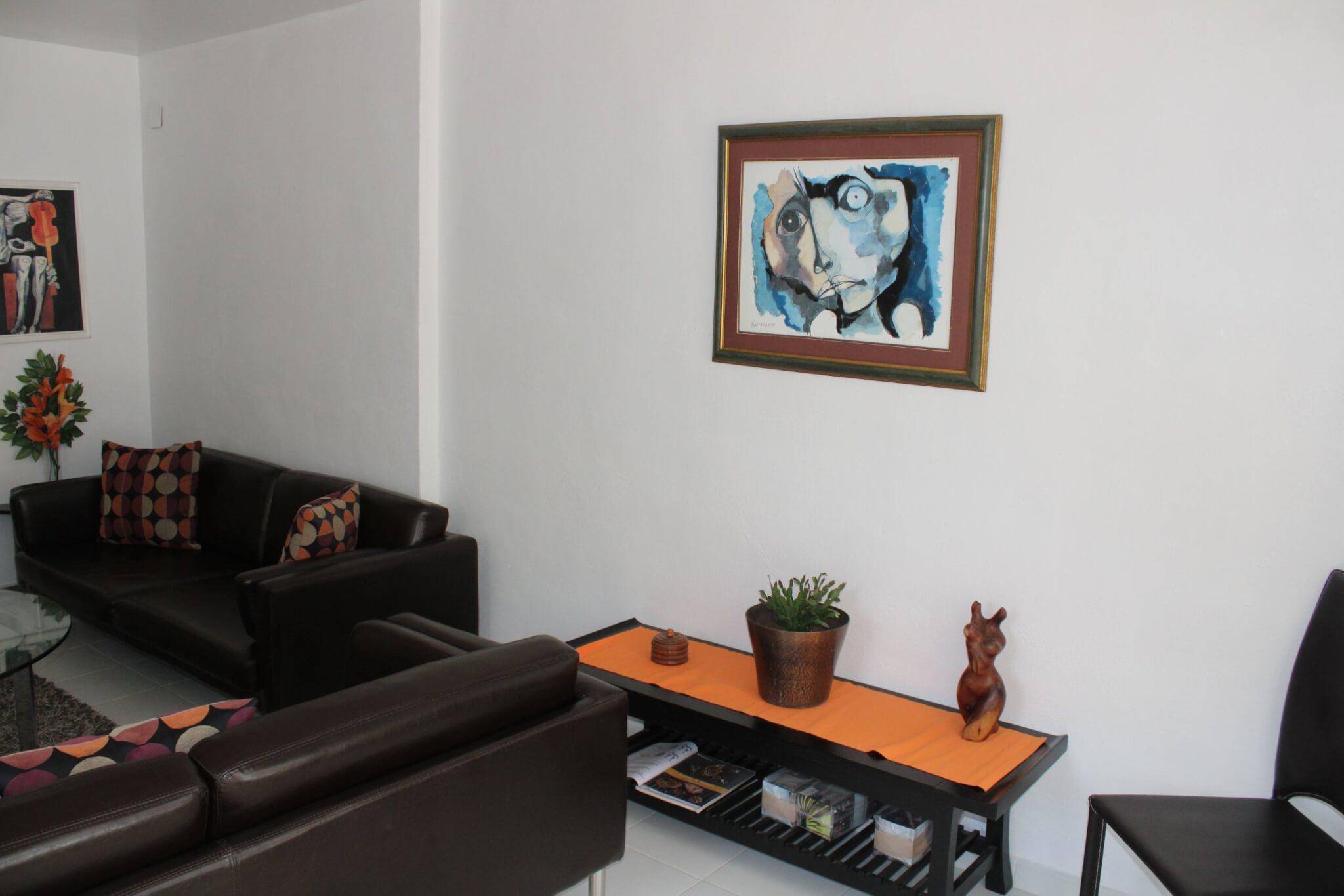 Le salon de l'appartement